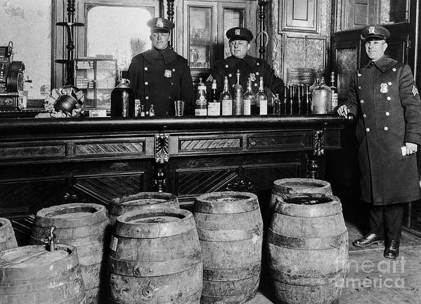 Prohibition Art Print featuring the photograph Cops At The Bar by Jon Neidert