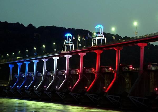 Bridge Art Print featuring the photograph Damm River Bridge by Kenna Westerman