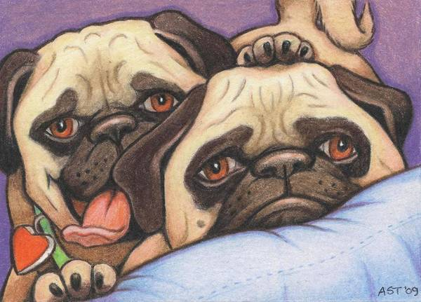 Dog Art Print featuring the drawing Did Someone Say Cookie by Amy S Turner