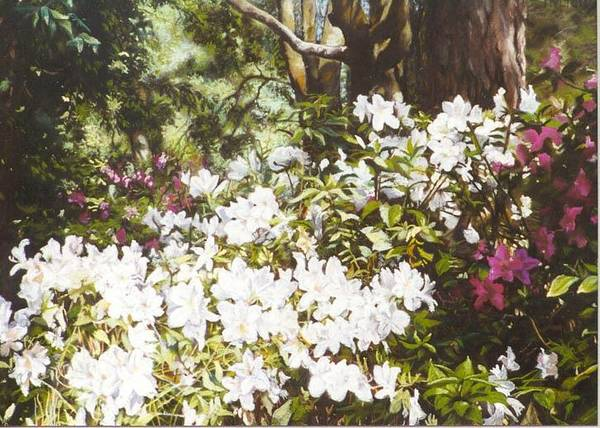 Flowers Art Print featuring the painting Early April by Marion Hylton
