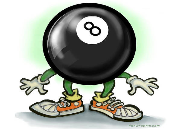 Eightball Art Print featuring the greeting card Eightball by Kevin Middleton