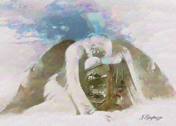 Angel Art Print featuring the digital art Engine Company 10 by Jean Gugliuzza