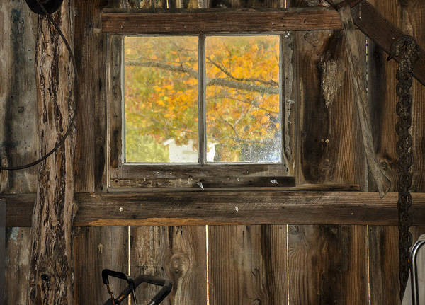 Autumn Art Print featuring the photograph Eric's Barn by Valerie Brown