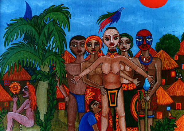 Homeland Art Print featuring the painting Exiled In Homeland by Madalena Lobao-Tello