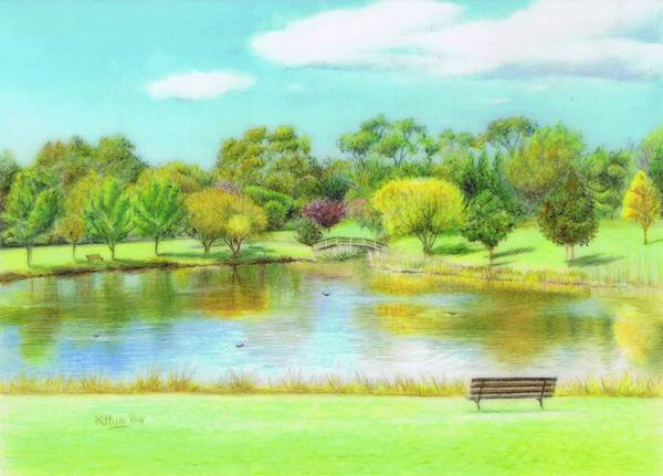 Karen Hull Art Print featuring the drawing Fagan Park by Karen Hull