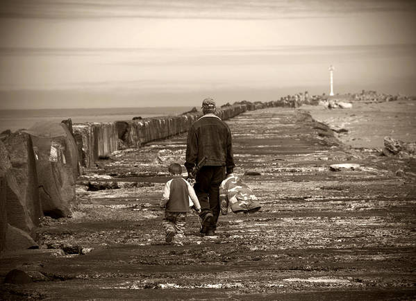 Fishing Art Print featuring the photograph Fishing With Grandpa by Jessica Wakefield