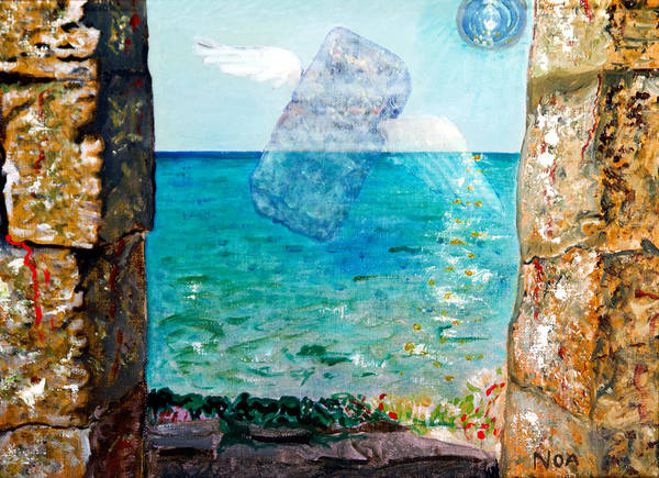 Seascape Art Print featuring the painting Flight Of A Soul by Aymeric NOA