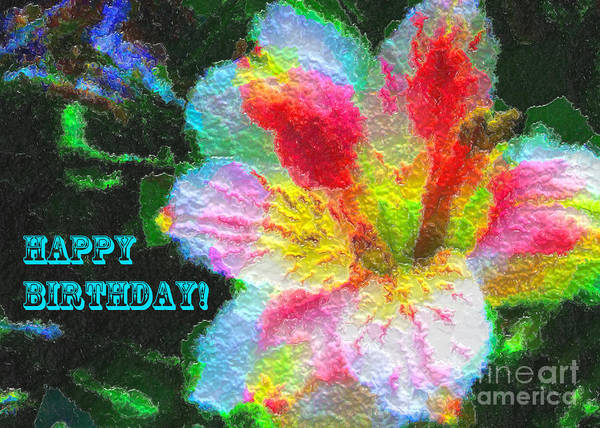 Photograph Art Print featuring the photograph Floral Birthday Card by Anna Sheradon