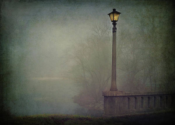Fog Art Print featuring the photograph Foggy Lampost by William Schmid