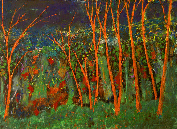 Abstract Art Print featuring the painting Forest Of Morpheus by Alexis Baranek