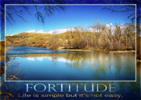 2016 Art Print featuring the photograph Fortitude Boise Motivational Artwork By Omashte by Omashte Witkowski