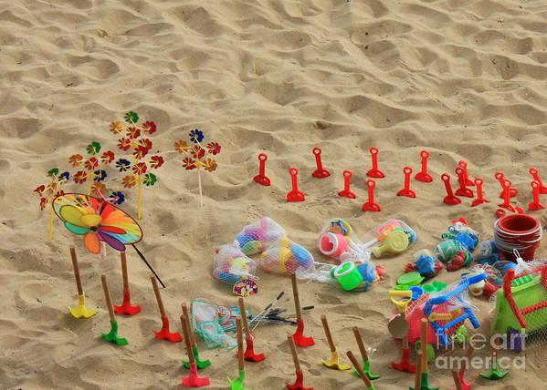 Beach Fun Art Print featuring the photograph Fun At The Beach by Carol Groenen