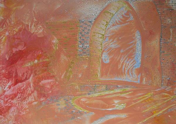 Encaustic Art Print featuring the painting Gates By Flesh by Heather Hennick