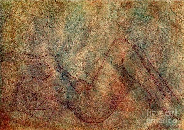 Nude Art Print featuring the painting Ghost Nude by Iglika Milcheva-Godfrey