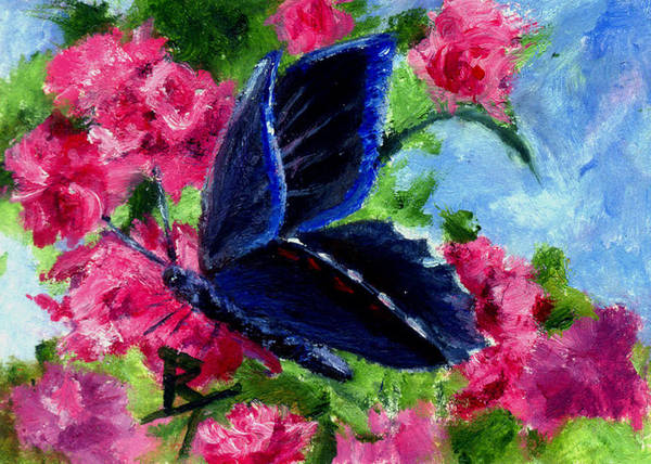 Butterfly Art Print featuring the painting Glory Aceo by Brenda Thour