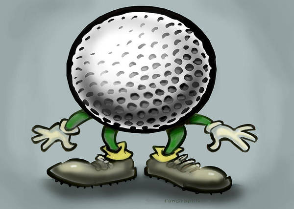 Golf Art Print featuring the greeting card Golf by Kevin Middleton