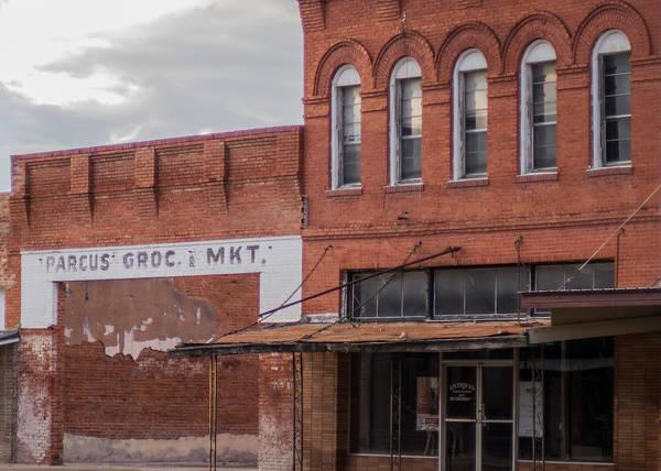 Vanishing Texas Art Print featuring the photograph Gone Grocery 5 #vanishingtexas Street Scene Rosebud Texas by Trace Ready