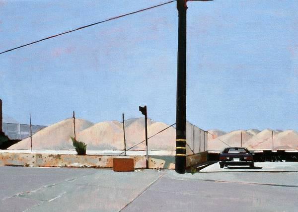 Gravel Piles Downtown La Art Print featuring the painting Gravel Piles Downtown La by Peter Wilson