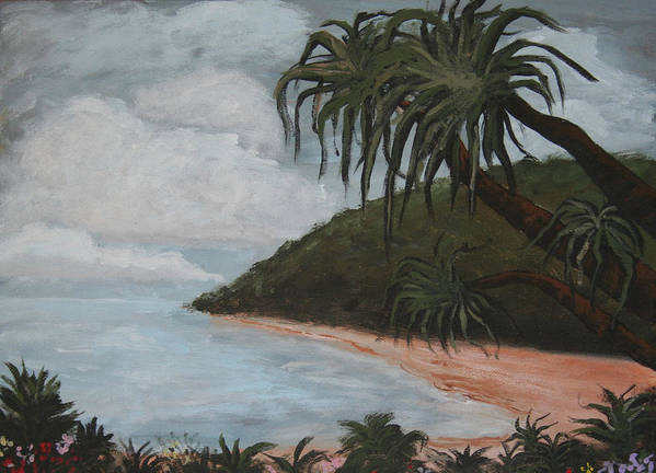 Landscape Art Print featuring the painting Hawaii by Amy Parker