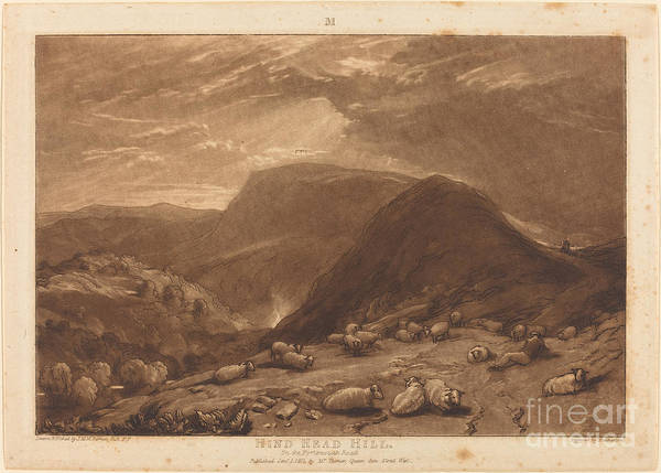 Art Print featuring the drawing Hind Head Hill by Joseph Mallord William Turner And Robert Dunkarton