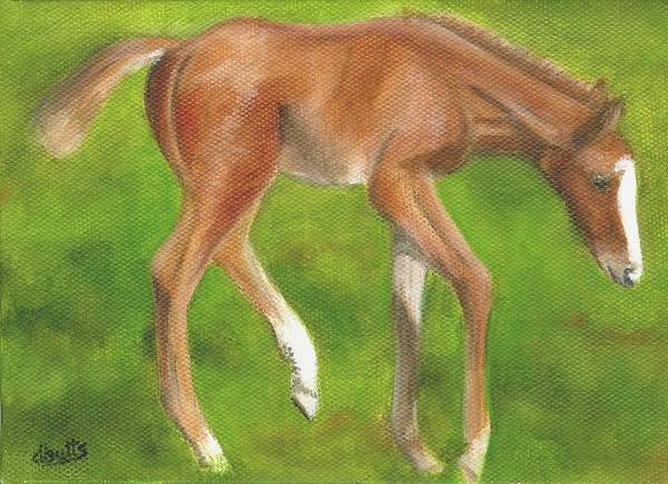 Horse Paintings Art Print featuring the painting Holly by Deborah Butts