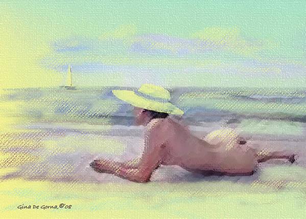 Original Art Art Print featuring the pastel Imagine by Gina De Gorna