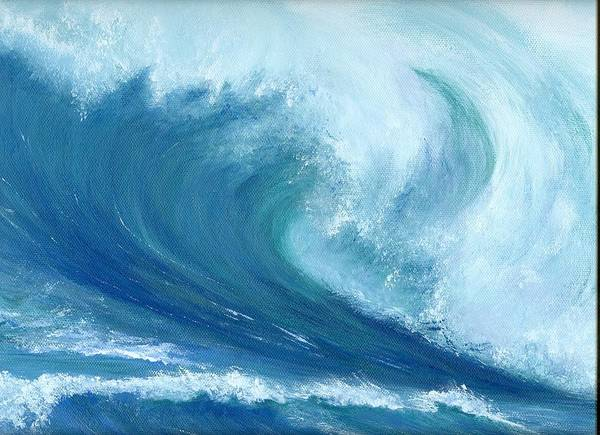 Wave Art Print featuring the painting Inside Out by Laura Johnson