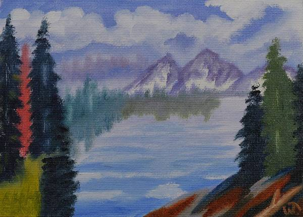 Inside Passage 3 Art Print featuring the painting Inside Passage 3 by Warren Thompson