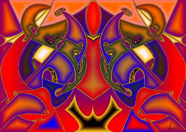 Life Art Print featuring the digital art Intertwined Lifestreets by Helmut Rottler