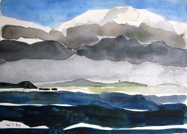 Irish Art Print featuring the painting Ireland Mutton Isle Clare by Lesley Giles