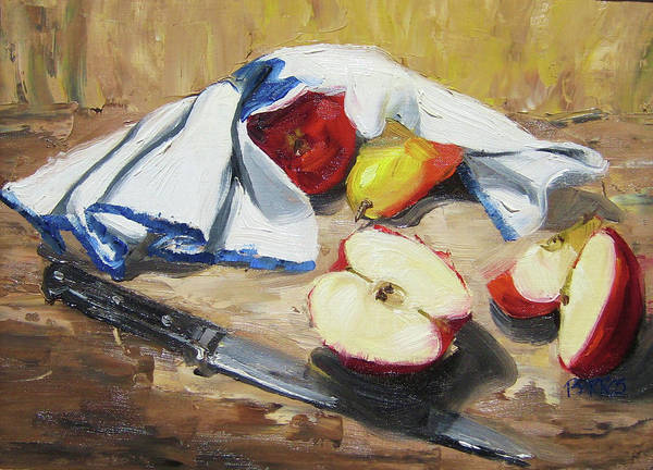 Still Life Art Print featuring the painting Is It Safe To Come Out by Paula Stern
