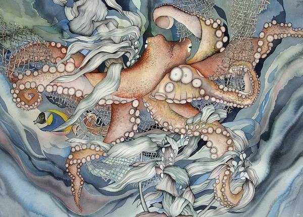 Sealife Art Print featuring the painting Its A Wonderful Wonderful World by Liduine Bekman