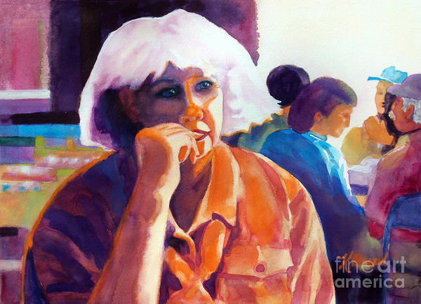 Paintings Art Print featuring the painting I've Got A Secret by Kathy Braud