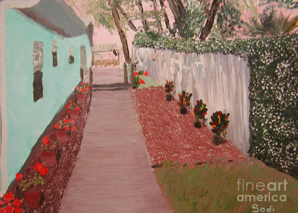 Landscape Art Print featuring the painting Jim by Sodi Griffin