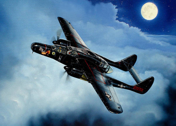 Military Art Print featuring the painting Lady In The Dark by Marc Stewart