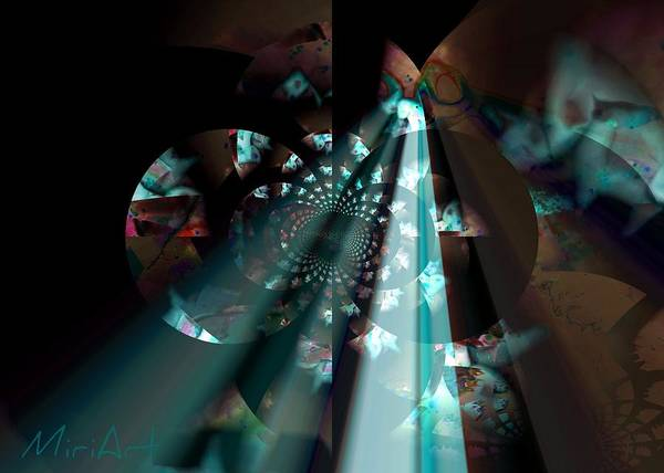 Abstract Art Print featuring the photograph Light Shining by Miriam Shaw