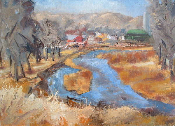 Landscape Art Print featuring the painting Marias Ranch by Bryan Alexander