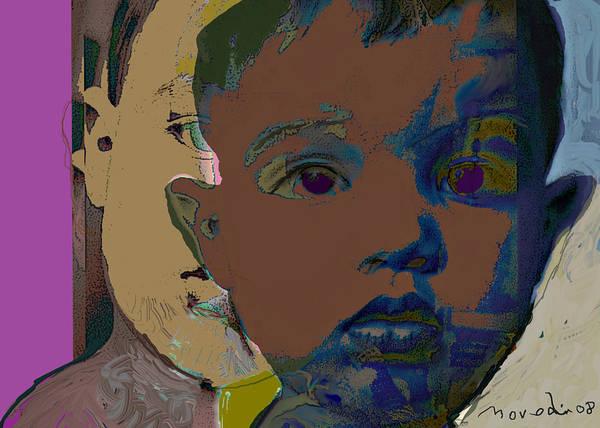Portrait Art Print featuring the digital art Mask 11 by Noredin Morgan