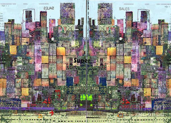 Metro Art Print featuring the digital art Metropolis Vi by Andy Mercer