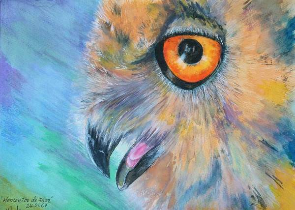 Bird Art Print featuring the painting Moments Of Jazz by Ceci Watson