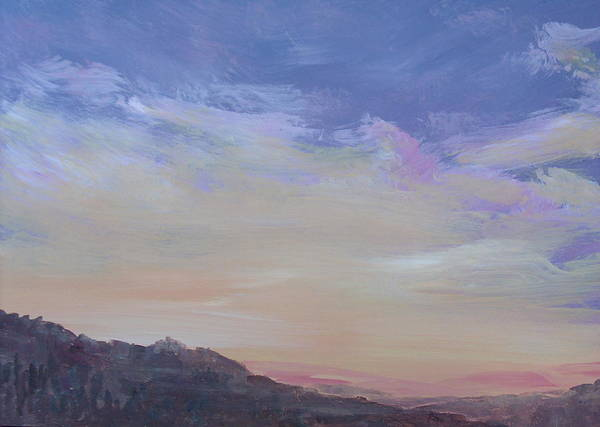 Landscape Art Print featuring the painting Mountain Dew by Pete Maier