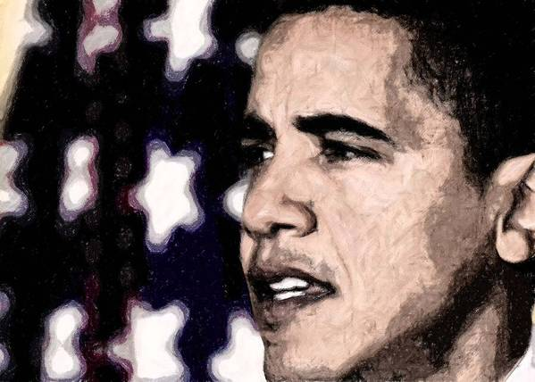 President Art Print featuring the digital art Mr. President by LeeAnn Alexander