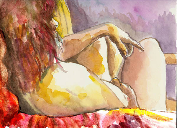 Figure Drawing Art Print featuring the painting My Right Shoulder by Tali Farchi
