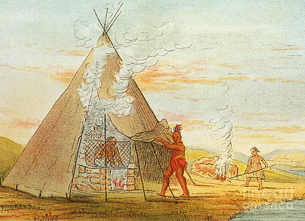 Medical Art Print featuring the photograph Native American Indian Sweat Lodge by Science Source