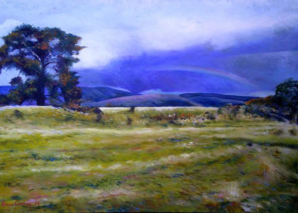 Tasmanian Landscapes Art Print featuring the painting Northeast Tasmania Australia 1995 by Enver Larney