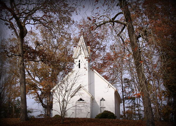 Church Art Print featuring the photograph Old Country Church In Alabama by Jackie McNeill
