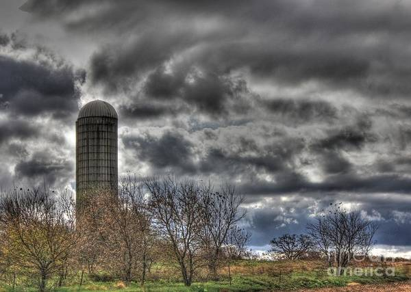 Old Silo Art Print featuring the photograph Old Silo by David Bearden