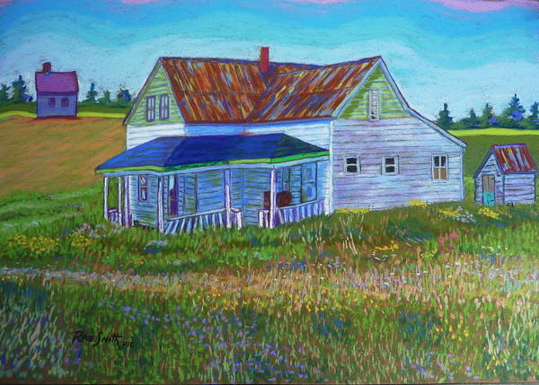 Tinroof Art Print featuring the pastel Old Tin Roof by Rae Smith