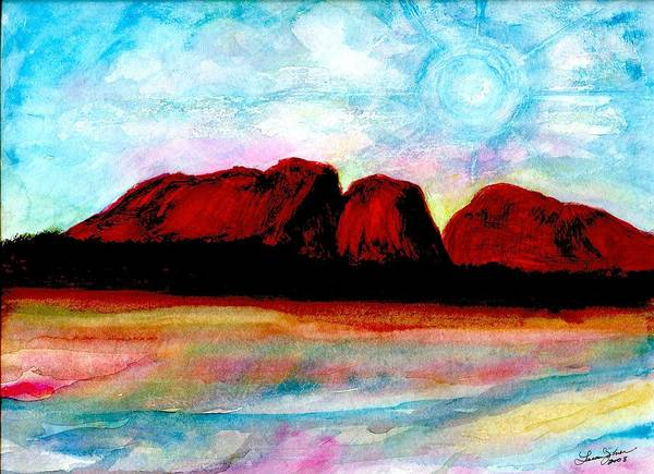Dreamscape Art Print featuring the painting Ozzzzzzzzzz by Laura Johnson