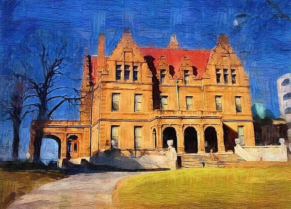 Architecture Art Print featuring the digital art Pabst Mansion by Anita Burgermeister
